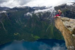 The photographer herself captured at Katthammaren, Eikesdalen, Norway